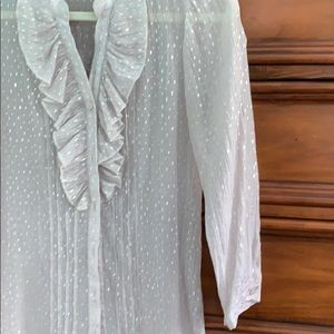 The Limited Tops - The Limited silver blouse, medium